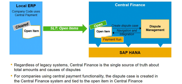Dispute Management in S/4HANA Central Finance